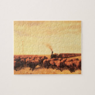 Vintage American West, Held Up by NH Trotter Jigsaw Puzzle