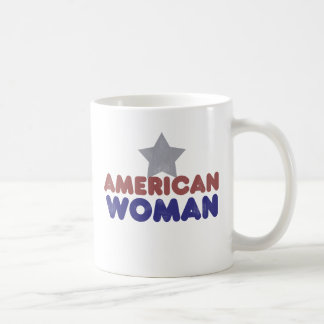 Vintage American Woman Mug