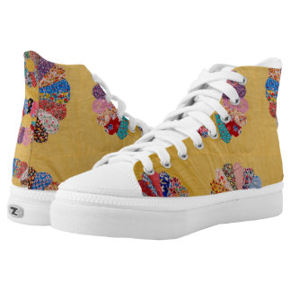 Vintage American Yellow Quilt High Tops