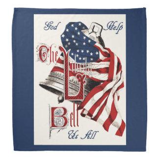 Vintage Americana Liberty Bell & US Flag Kerchiefs