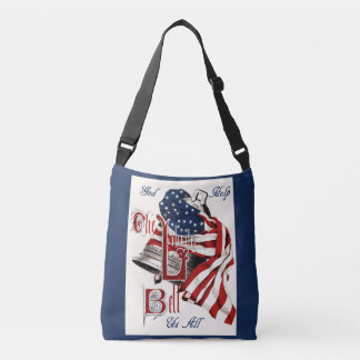 Vintage Americana Liberty Bell & US Flag tote Tote Bag