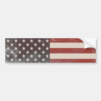 Vintage Americana Red White Blue Stars and Stripes Bumper Sticker