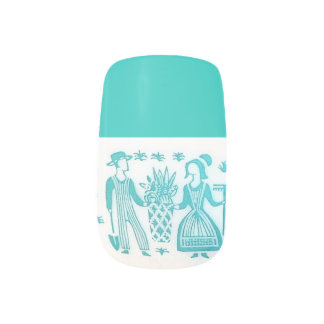 Vintage Amish Nails Fingernail Transfer