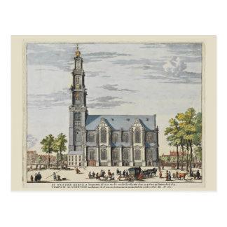 Vintage Amsterdam South Church Postcard