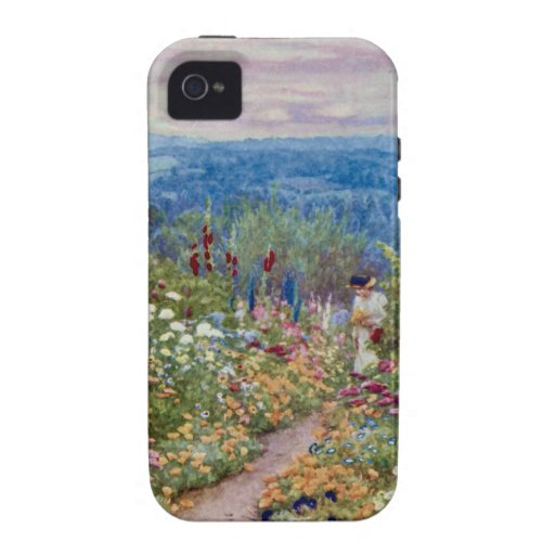 Vintage An English Country Garden Vibe iPhone 4 Case