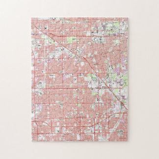 Vintage Anaheim & Garden Grove CA Map (1965) 2 Jigsaw Puzzle