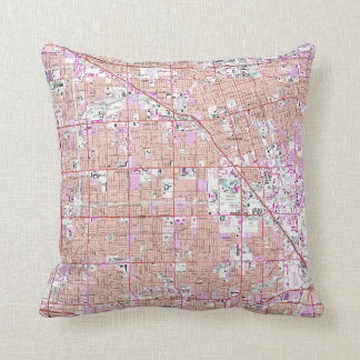 Vintage Anaheim & Garden Grove CA Map (1965) Cushion
