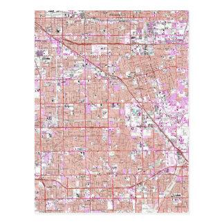 Vintage Anaheim & Garden Grove CA Map (1965) Postcard