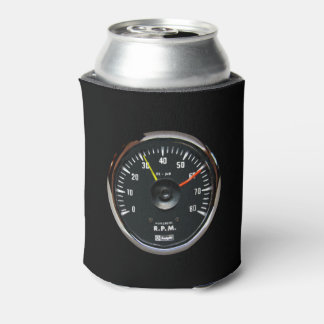 Vintage Analog Auto Tachometer Can Drink Cooler