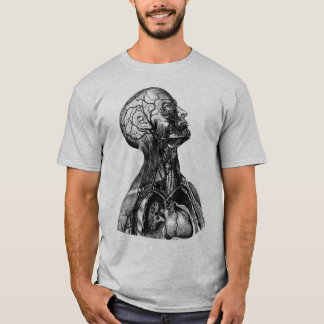 Vintage Anatomical Illustration of the Upper Body T-Shirt