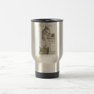 Vintage Anatomy Andreas Vesalius Skeleton Travel Mug