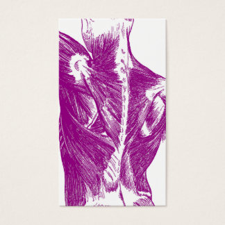 Vintage Anatomy | Back Muscles | Purple