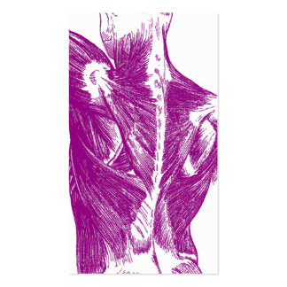 Vintage Anatomy | Back Muscles | Purple Pack Of Standard Business Cards