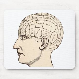Vintage Anatomy Brain Map Image Mouse Pad