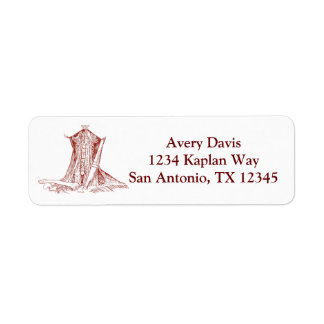 Vintage Anatomy Drawing Muscles Of The Neck Return Address Label