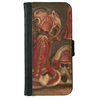 Vintage Anatomy | Neck and Face iPhone 6 Wallet Case