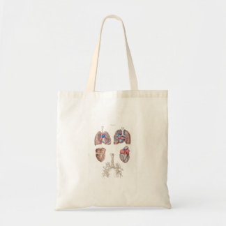 Vintage Anatomy of Human Heart and Lungs Tote Bag