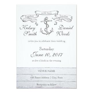 Vintage Anchor Nautical | Wedding Invitation