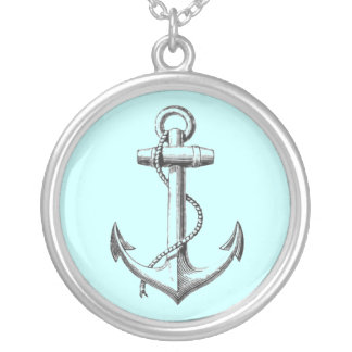 Vintage Anchor necklace (blue)