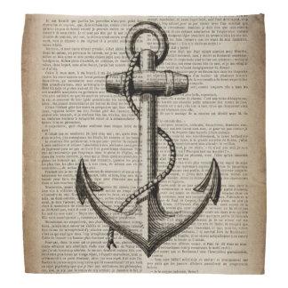 vintage anchor ocean map beach fashion nautical kerchiefs