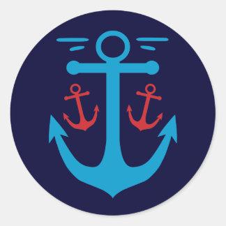 Vintage Anchor Round Sticker