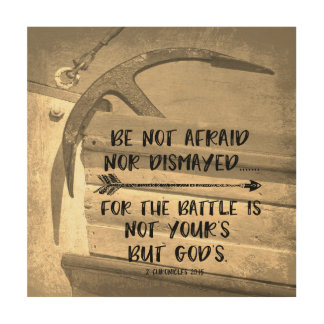 Vintage Anchor with Be Not Afraid Bible Verse Wood Wall Decor