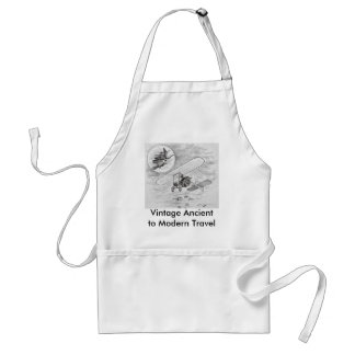 Vintage Ancient to Modern Travel Aprons