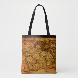Vintage and Antique maps Pattern Tote Bag