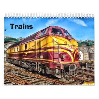 Vintage and Modern Trains Calendar