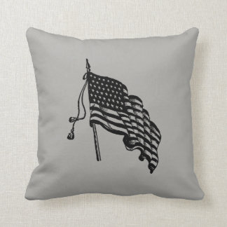 Vintage and Retro American Flag Pillows
