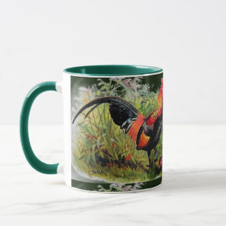 Vintage Andrew Neale Red Jungle Fowl Mug
