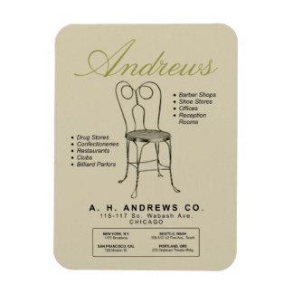 Vintage Andrews Ice Cream Chair Advertising Magnet