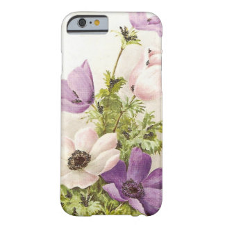 Vintage Anemone Flowers Barely There iPhone 6 Case