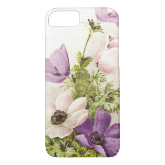 Vintage Anemone Flowers iPhone 8/7 Case
