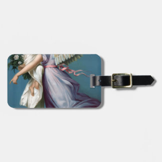 Vintage Angel And Child Illustration Luggage Tag