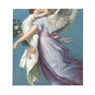 Vintage Angel And Child Illustration Notepad