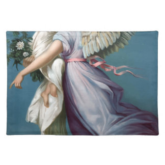 Vintage Angel And Child Illustration Placemat