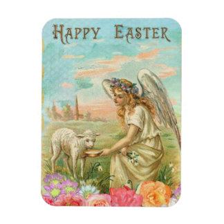 Vintage Angel And Lamb Magnet