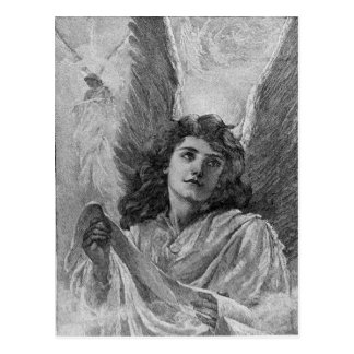 Vintage Angel Christmas Greetings Postcard