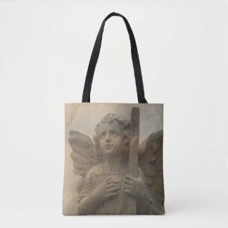 Vintage Angel Cross Body Tote Bag