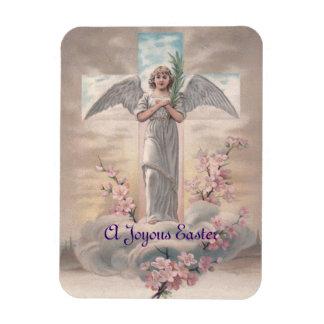 Vintage Angel & Cross Easter Rectangular Photo Magnet
