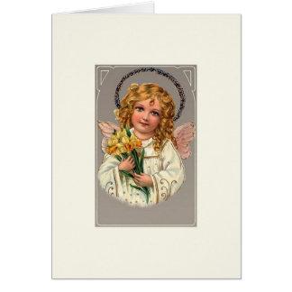 Vintage Angel Easter Note Card