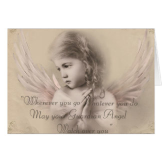 Vintage Angel Girl Card