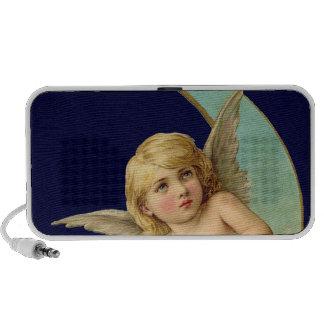 Vintage Angel in Moon Mini Speakers