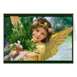 Vintage Angel In The Snow Christmas Holiday Card