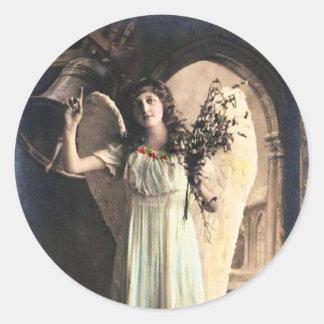 Vintage Angel Photo Round Sticker