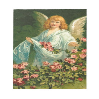 Vintage, Angel & Pink Roses Notepad