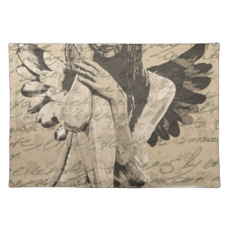 Vintage angel placemat
