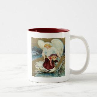 Vintage, Angel Protecting Little Girl Mug