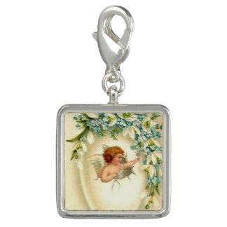 Vintage Angel sterling silver plated charm